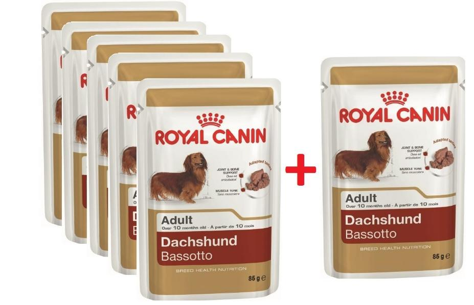 "Паштет для такс Royal Canin ""Dachshund Adult"" , 85 гр 5+1"